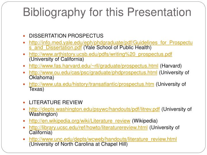 dissertation prospectus literature review The dissertation prospectus  review of literature (this review should focus on identifying the main works to support  doctorate in learning and leadership.