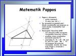 matematik pappos