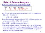 rate of return analysis6