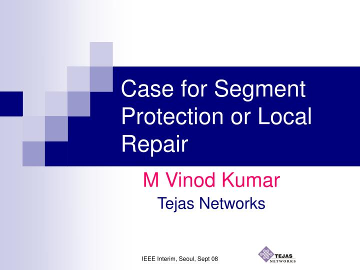 case for segment protection or local repair n.