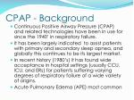 cpap background