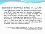 research review bipap vs cpap