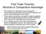 free trade theories absolute comparative advantage