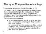 theory of comparative advantage