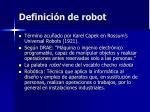 definici n de robot