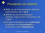 prevalentie van diabetes