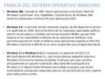 familia del sistema operativo windows
