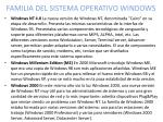 familia del sistema operativo windows2