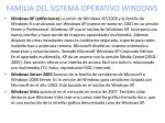 familia del sistema operativo windows3