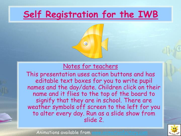 self registration for the iwb n.