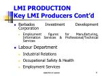 lmi production key lmi producers cont d