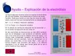 ayuda explicaci n de la electr lisis