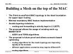 building a mesh on the top of the mac