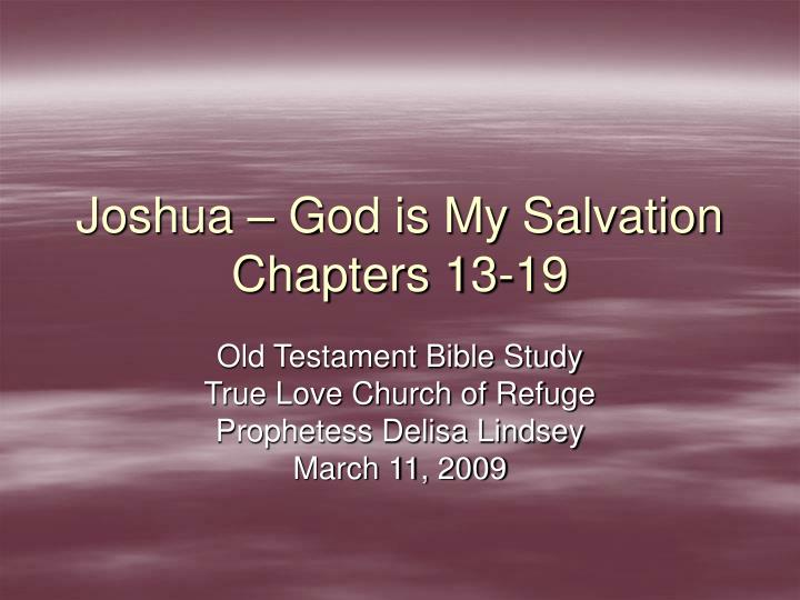 joshua god is my salvation chapters 13 19 n.
