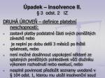 padek insolvence ii 3 odst 2 iz