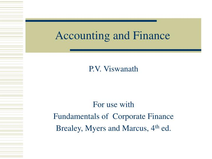 accounting and finance n.