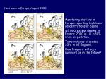 heat wave in europe august 2003