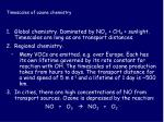 timescales of ozone chemistry