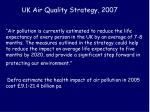 uk air quality strategy 2007