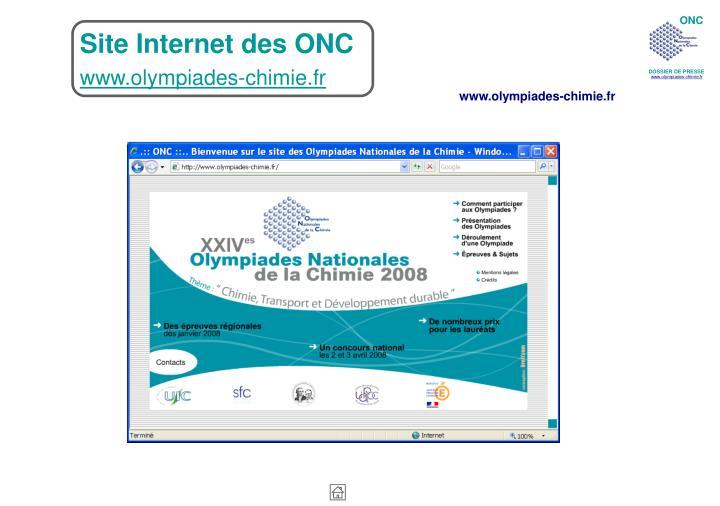 Site Internet des ONC