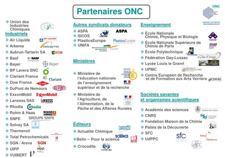 Partenaires ONC