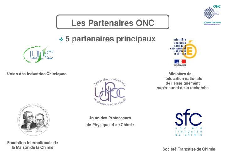 Les Partenaires ONC