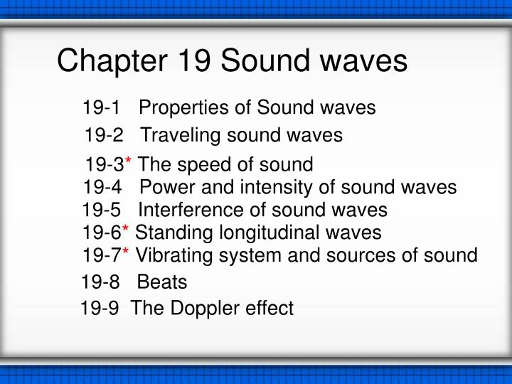 chapter 19 sound waves n.