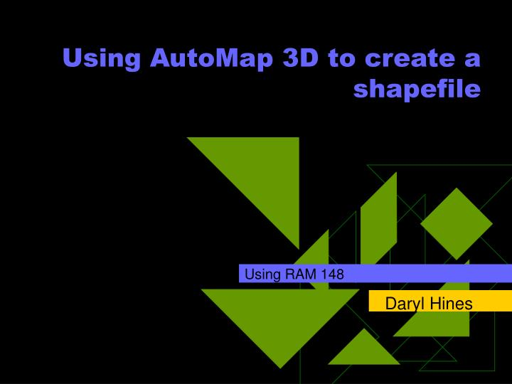 using automap 3d to create a shapefile