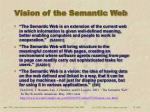 vision of the semantic web