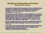 working as communities of practice what are cop s anyway