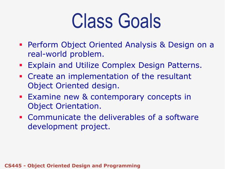 object-oriented software development research study The quality of the resulting system in object-oriented development is essentially a reflection of the quality of the class model this is because the class model sets the underlying foundation upon which objects will be put to work.