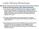 letter writing workshops