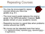 repeating courses