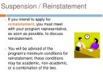 suspension reinstatement
