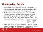 confirmation forms