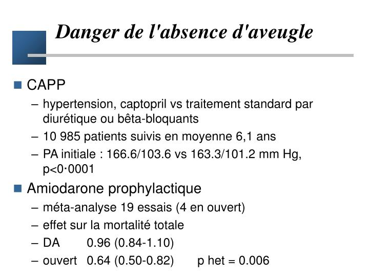Danger de l'absence d'aveugle