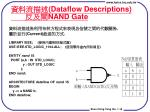 dataflow descriptions nand gate