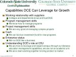 capabilities dce can leverage for growth