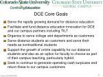 dce core goals