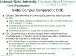 global campus compared to dce