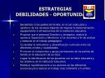estrategias debilidades oportunidades