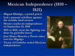mexican independence 1810 1821