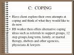 c coping