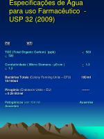especifica es de gua para uso farmac utico usp 32 2009