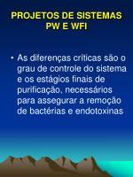 projetos de sistemas pw e wfi1