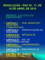 resolu o rdc n 17 de 16 de abril de 2010