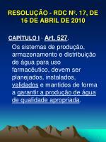 resolu o rdc n 17 de 16 de abril de 20101