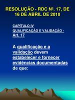 resolu o rdc n 17 de 16 de abril de 201010