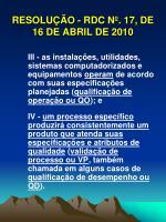resolu o rdc n 17 de 16 de abril de 201012