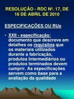 resolu o rdc n 17 de 16 de abril de 201013